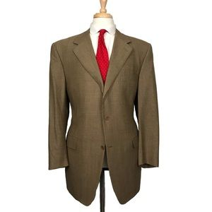 Canali Gold/Tan Check Jacket Sport Coat Blazer
